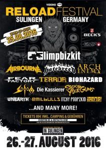 Reload Festival 2016 Flyer