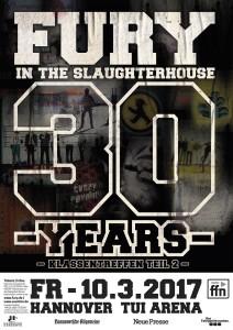 Fury In The Slaughterhouse Plakat