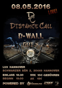 Tourplakat Distance Call