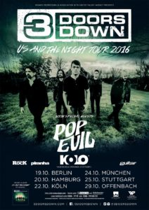 3 Doors Down Tourplakat