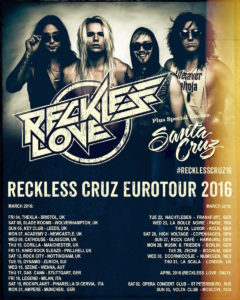 Reckless Love Tourposter