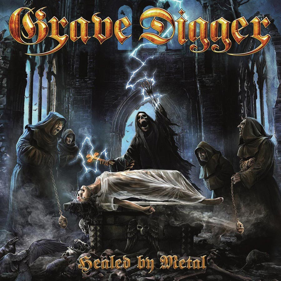 Grave Digger: Healed By Metal (2017) Book Cover