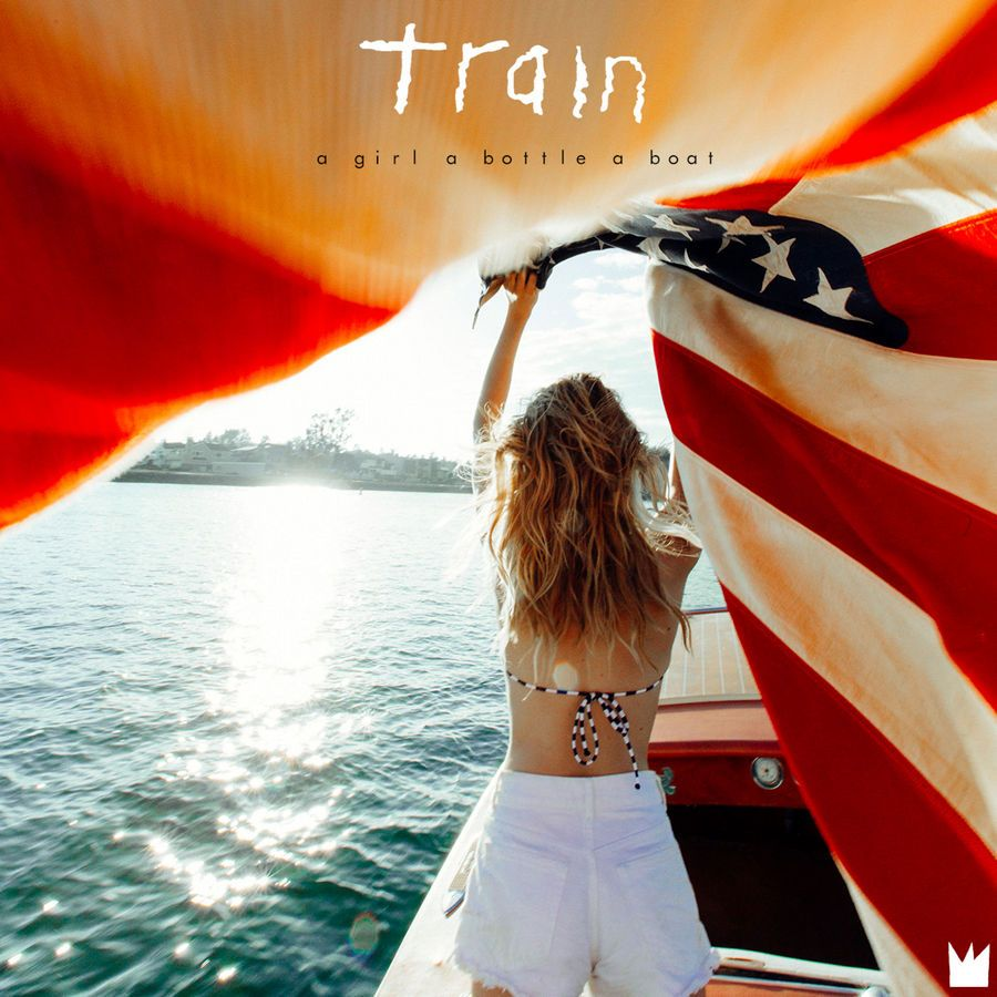 Train: A Girl A Bottle A Boat (2017) Book Cover