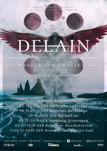 """Delain """"Master Of Destiny Tour"""" 2019 (Quelle: Seaside Touring)"""